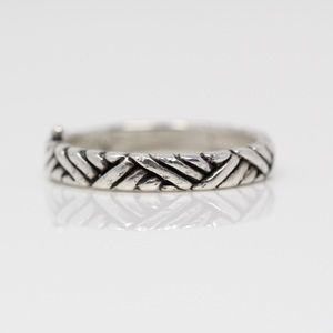 SOUTHWESTERN Sterling Silver Woven Band Ring 4